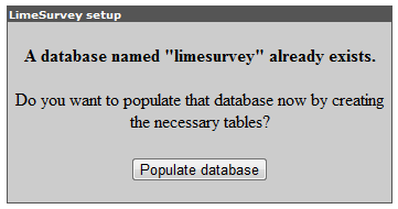 Populate database