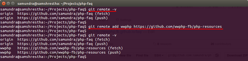 Git Remote Add