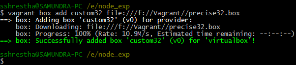 vagrant box add, syntax to add local vagrant boxes