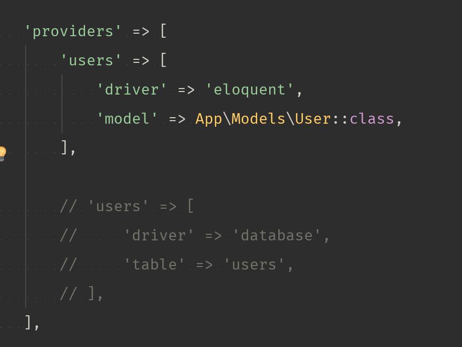 Laravael User Model