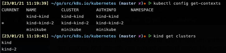 Kind multiple clusters