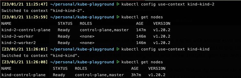 Kind multiple node